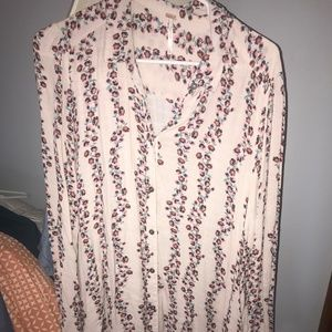 Free people floral/pink romantic dress medium